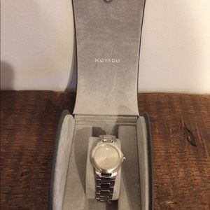 Movado Museum watch. Silver. Vintage. Never worn.